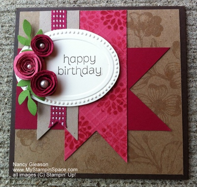 Stampin' Up!, Nancy Gleason, Natural Composition DSP, Made For You, Primrose Petals,
