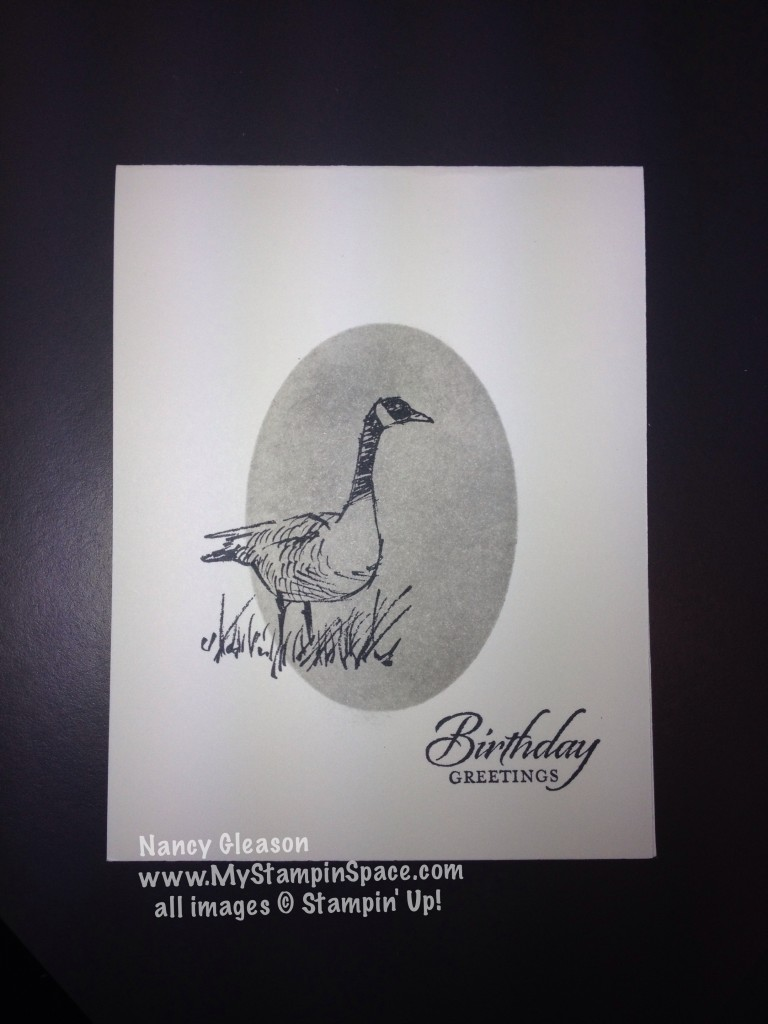 Wetlands Goose single layer card