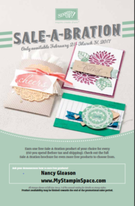 Sale-A-Bration 2nd release, Free Stampin' UP!, Nancy Gleason, My Stampin Space, glimmer paper, medallion stamp set