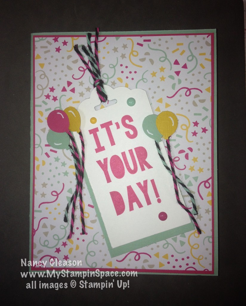 It's Your Day!, Party with Cake, Party Punch Pack, Nancy Gleason, My Stampin Space