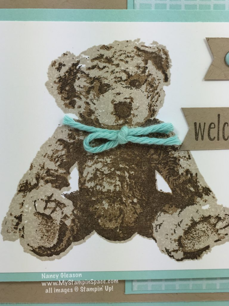 I love the realistic furry detail of the Baby Bear Stamp set