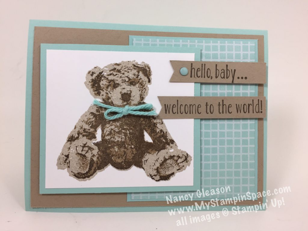 Baby Bear Baby Boy Card