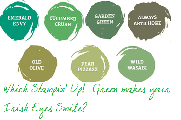 stampin' up! greens
