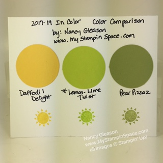 Lemon Lime Twist Color Comparison