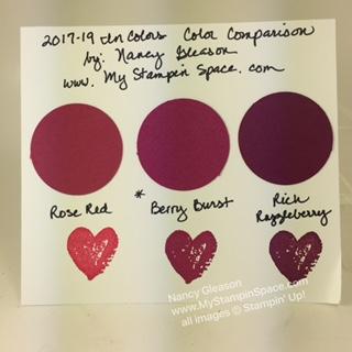 Berry Burst Color Comparison