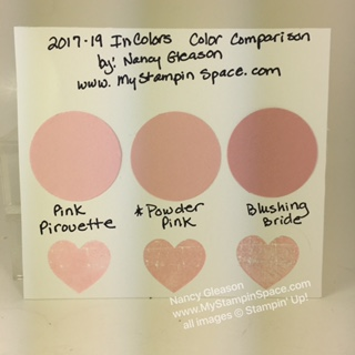 Powder Pink Color Comparison
