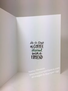 Happiness is coffee shared with a friend