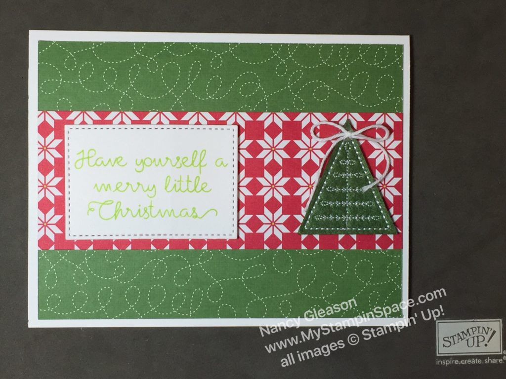 How to make a simple card using the Quilted Christmas suite