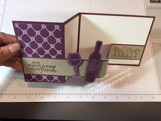 Double Z Fold Card by Nancy Gleason My Stampin Space using the Half Full stamp set