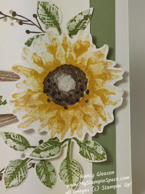 Fall Flowers Autumn Sunflower from the Painted Harvest stamp set by Nancy Gleason My Stampin Space