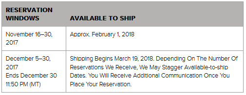 Stamparatus Shipping Schedule
