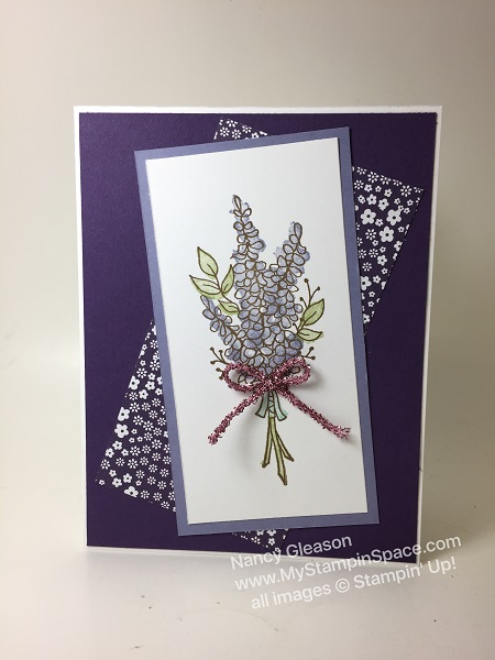 Lots of Lavender, TTTC030, purple, floral, Nancy Gleason, My Stampin Space, Sale-A-Bration 2018