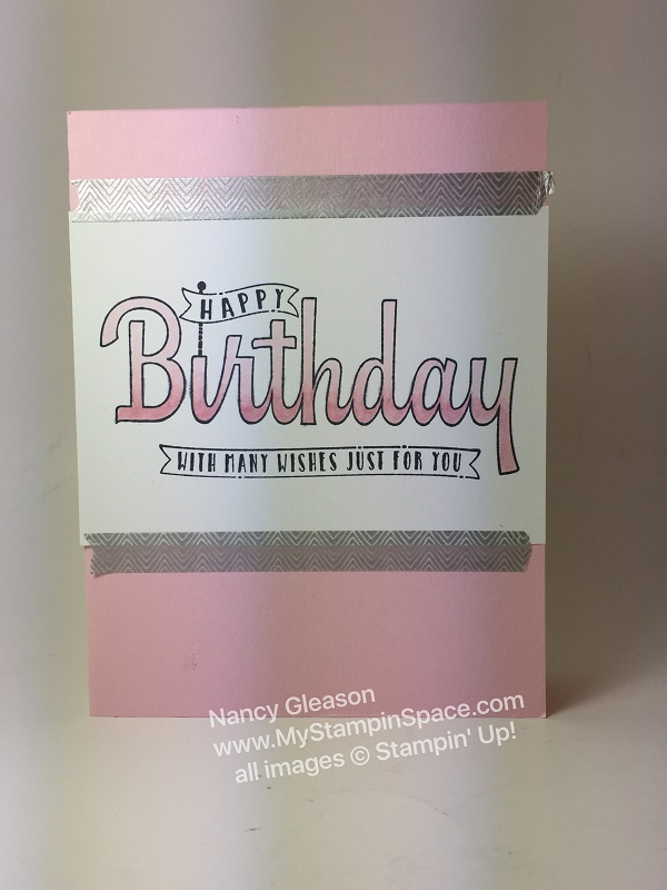 How to Use Stampin' Blends with the Birthday Wishes for You Stamp Set