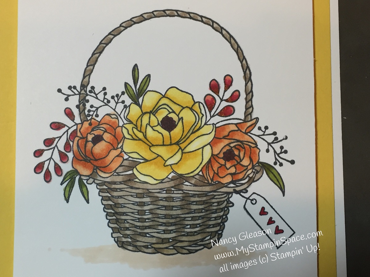 Blossoming Baskets in Yellows & Oranges