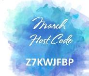 March Host Code Z7KWJFBP