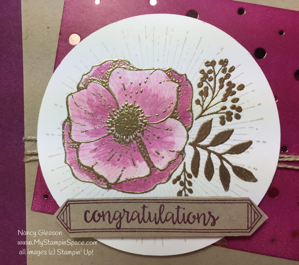 Gold Embossed floral from Amazing You stamp set