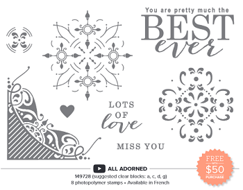 All Adorned Stamp Set Sale-A-Bration 2nd Release