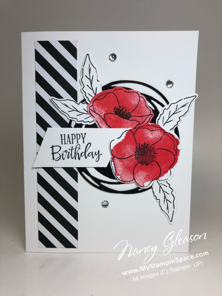 Painted Poppies B&W Birthday