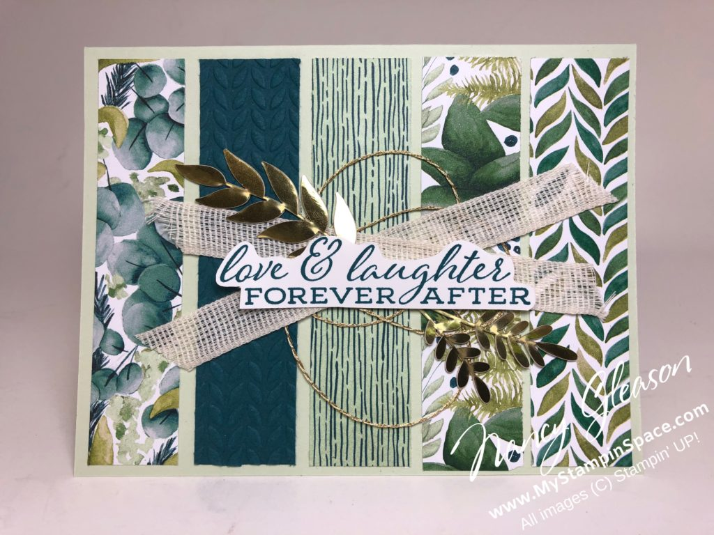 Forever Greenery Love & Laughter by Nancy Gleason of My Stampin Space
