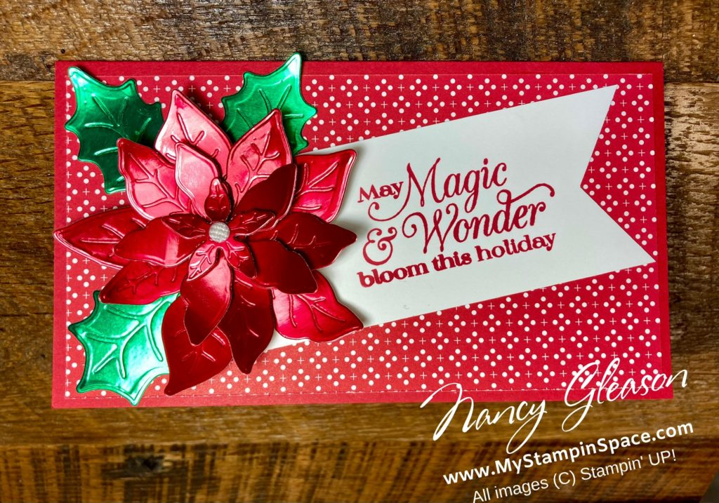 Red Foil Poinsettia