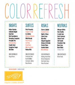Color Refresh Chart