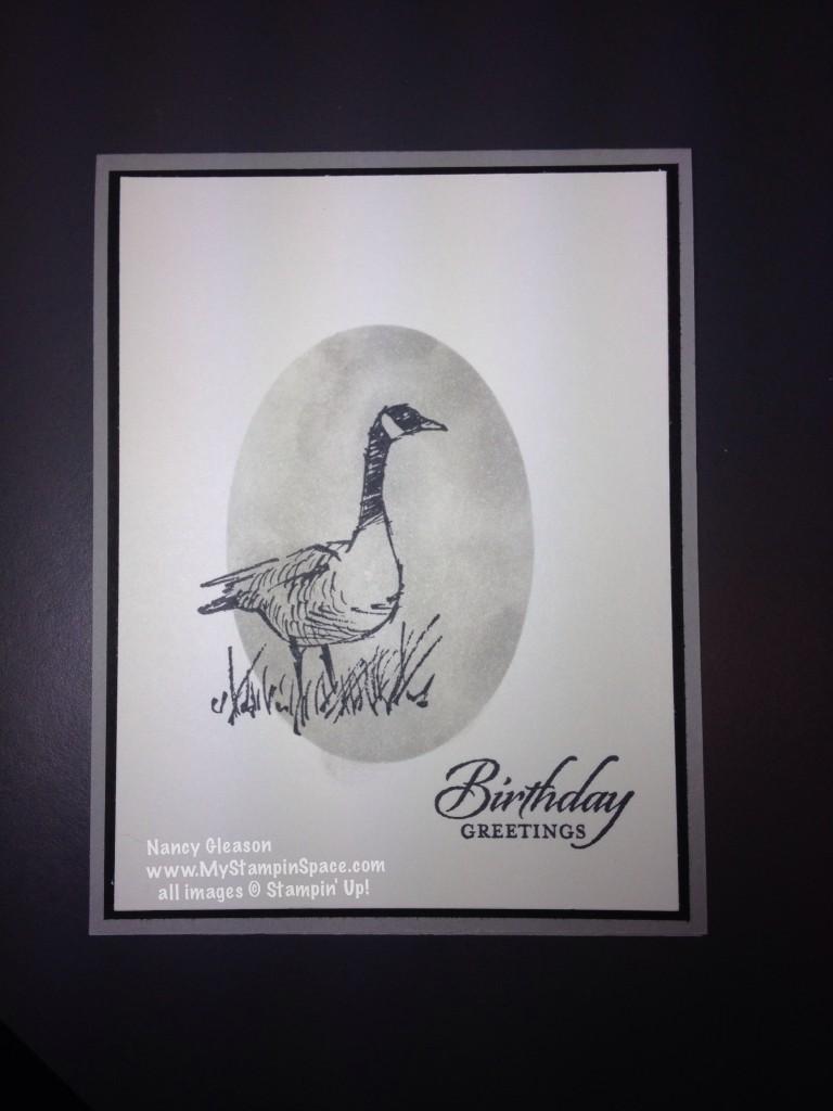 Wetlands Goose multiple layer card
