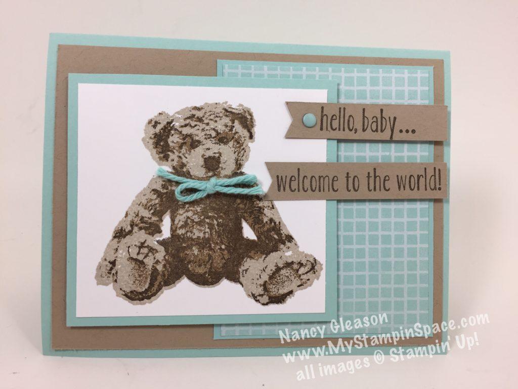 Baby Bear Baby Boy Card
