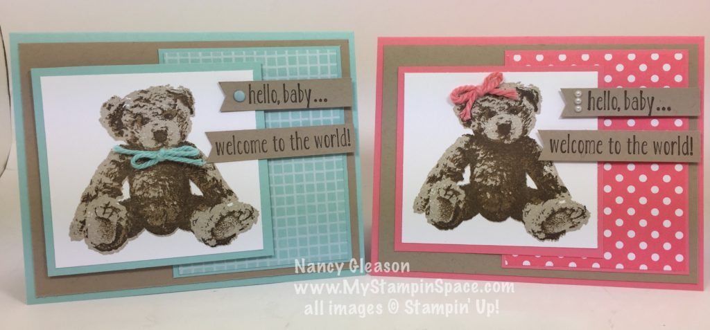 I love this baby card layout that works well for both a baby boy or a baby girl!