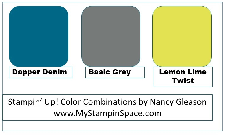 Dapper Denim, Basic Gray and Lemon Lime Twist