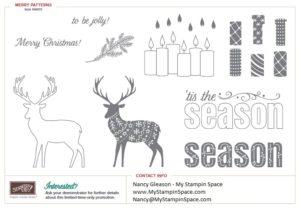 Merry Patterns, argyle sweater on deer, tis the season, candles
