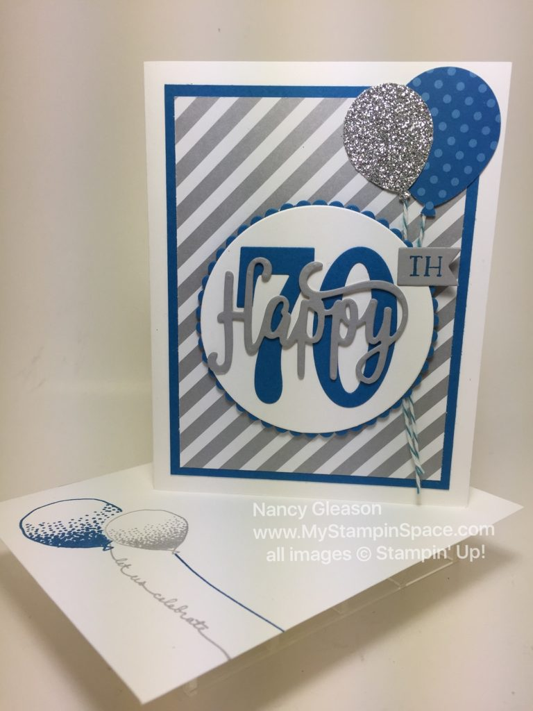 Happy 70th Birthday card with envelope