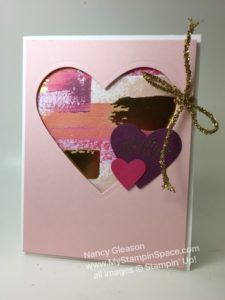Be Mine Valentine card featuring Painted With Love Specialty DSP