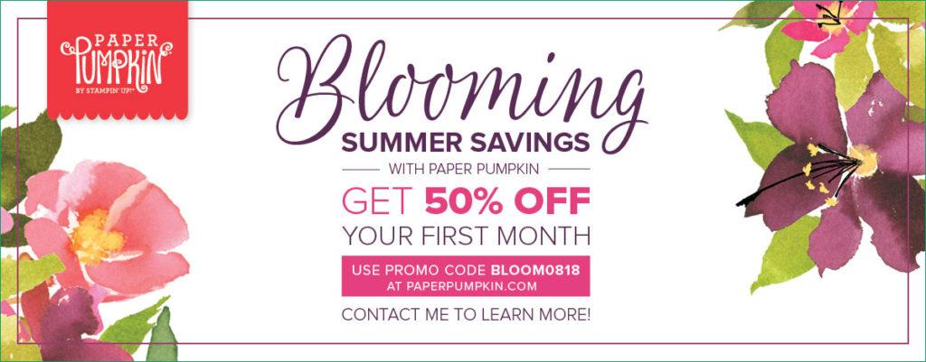 Blooming Summer Savings 50% off Paper Pumpkin
