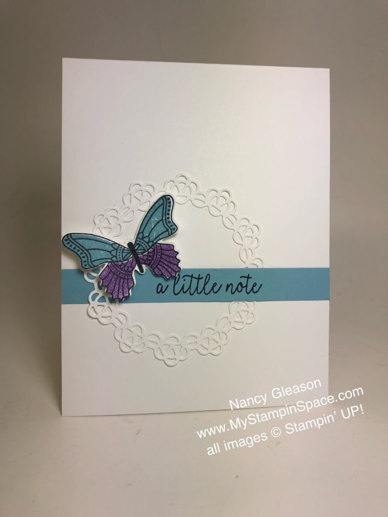 a simply stunning card featuring the Butterfly Gala stamp set