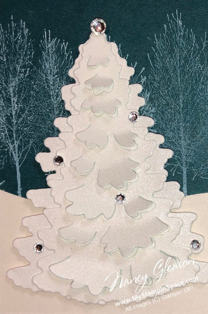 Winter Woods and In The Woods dies come together to create this Christmas tree