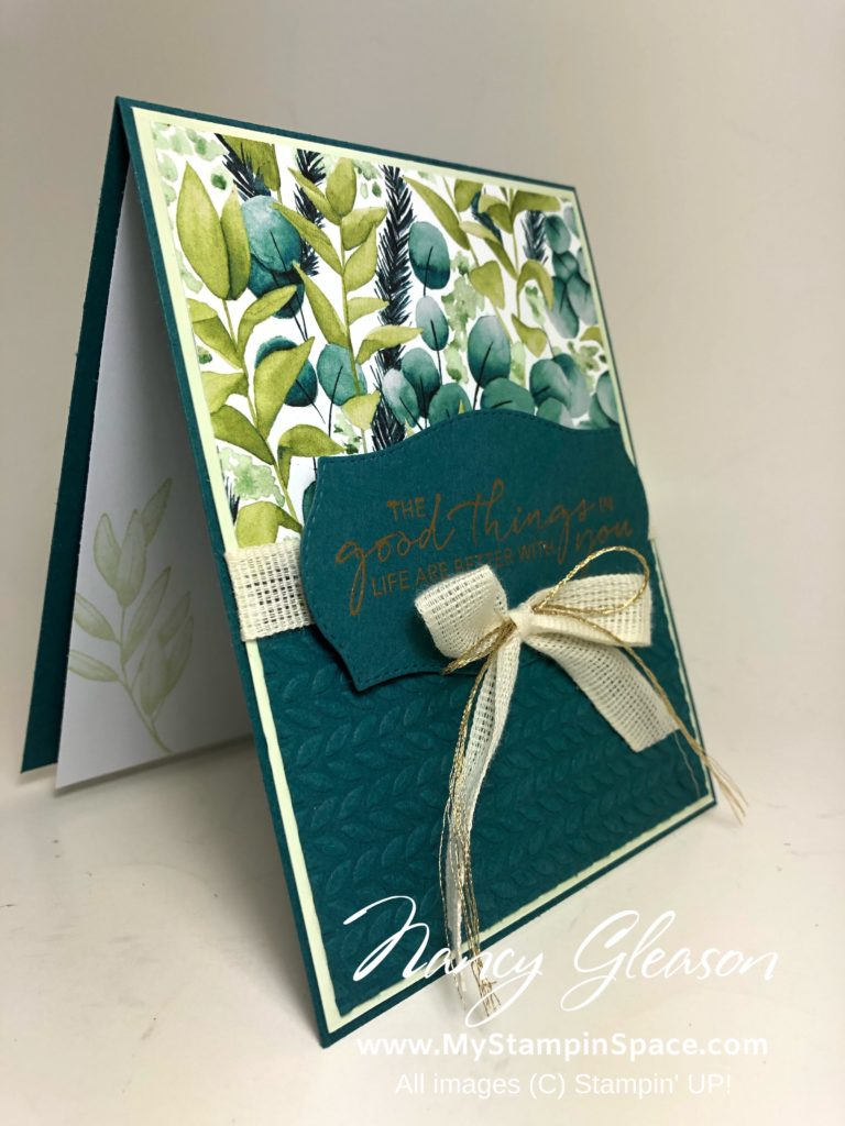 Forever Greenery inside by Nancy Gleason of My Stampin Space.