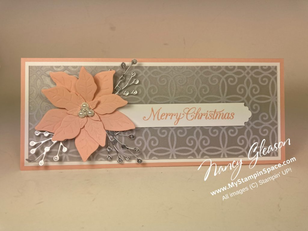 Tall & Skinny Poinsettia in Petal Pink and Gray